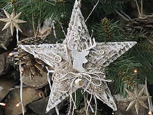 Рождественская звезда своими руками. Ярмарка Мастеров - ручная работа, handmade.