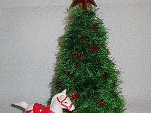 """Новогодние вязанные ёлочки из """"Травки"""". Ярмарка Мастеров - ручная работа, handmade."""