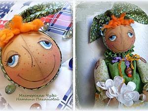 Мастер-Класс: пасхальный Колобок и кукла-подарочница Грушенька-Душенька. Ярмарка Мастеров - ручная работа, handmade.