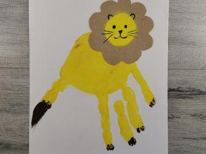 Как нарисовать льва. Пальчиковый метод. Ярмарка Мастеров - ручная работа, handmade.