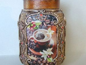 Баночка для кофе. Фотоотчет для Татьяны. Ярмарка Мастеров - ручная работа, handmade.