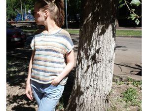Бесплатное описание летней футболки. Часть 1. Ярмарка Мастеров - ручная работа, handmade.