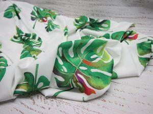 Ниагара Монстера зеленый листья. Ярмарка Мастеров - ручная работа, handmade.