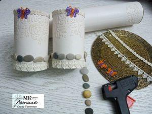На память о лете, или Как морские камушки нашли применение для использования в декоре баночек. Ярмарка Мастеров - ручная работа, handmade.