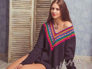 Вяжем свитер «Фрида»: инструкция с выкройкой. Ярмарка Мастеров - ручная работа, handmade.
