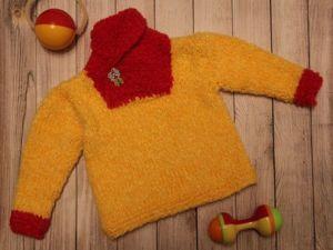 Создаем яркий пуловер с воротником-шалькой. Ярмарка Мастеров - ручная работа, handmade.