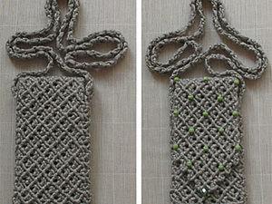 Плетем сумочку для мобильного телефона. Ярмарка Мастеров - ручная работа, handmade.