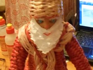 Видео мастер-класс: изготовление Деда Мороза из бумажной лозы. Часть 1. Ярмарка Мастеров - ручная работа, handmade.
