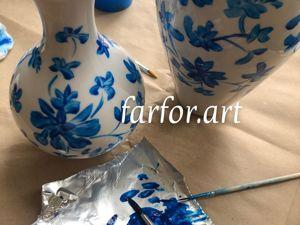 Работа в мастерской над росписью твердого фарфора. Ярмарка Мастеров - ручная работа, handmade.