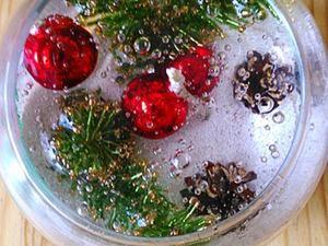 """Делаем гелевую свечу """"Новый год"""" с запахом хвои. Ярмарка Мастеров - ручная работа, handmade."""