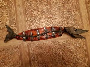 Вешалка рыба. Ярмарка Мастеров - ручная работа, handmade.