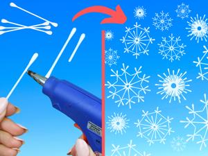 Собираем снежинки из ватных палочек — 3 красивые идеи. Ярмарка Мастеров - ручная работа, handmade.