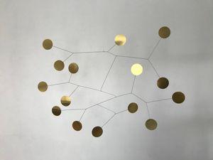 Видео абстрактного латунного мобиля. Ярмарка Мастеров - ручная работа, handmade.