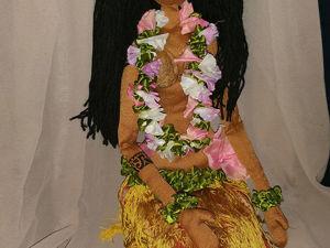 Создание куклы «Гавайская девушка». Часть 1. Тело. Ярмарка Мастеров - ручная работа, handmade.