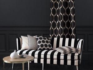 Black & White, Ткани интерьерные в черно-белом цвете. Ярмарка Мастеров - ручная работа, handmade.