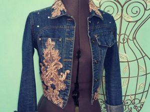 Декорируем джинсовую куртку. Ярмарка Мастеров - ручная работа, handmade.