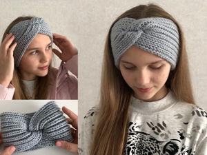Мастер-класс: простая повязка на голову спицами. Ярмарка Мастеров - ручная работа, handmade.