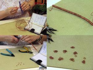 Фотоотчет о мастер-классе по византийскому плетению. Ярмарка Мастеров - ручная работа, handmade.