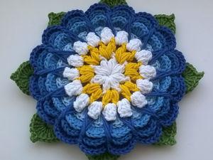Большой вязаный цветок своими руками. Ярмарка Мастеров - ручная работа, handmade.