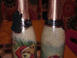 Оформление Новогодней Бутылки. Ярмарка Мастеров - ручная работа, handmade.