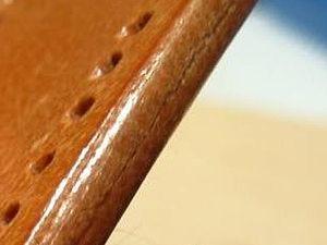 Методика обработки торца кожи сликером. Ярмарка Мастеров - ручная работа, handmade.