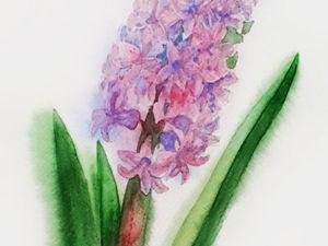 Рисуем бледно-розовый гиацинт по памяти. Ярмарка Мастеров - ручная работа, handmade.