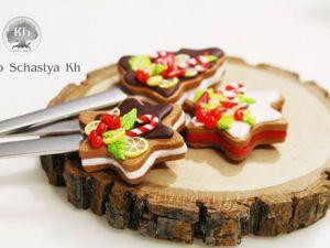 Видео мастер-класс: декор ложки полимерной глиной «Имбирное печенье». Ярмарка Мастеров - ручная работа, handmade.