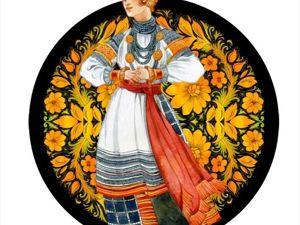Русские ремёсла — Богучарская роспись. Ярмарка Мастеров - ручная работа, handmade.