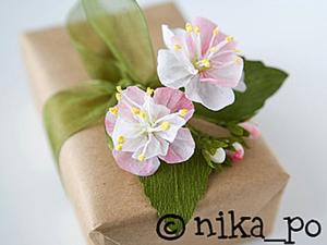 Цветы яблони из креповой бумаги. Ярмарка Мастеров - ручная работа, handmade.