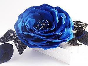 Мастер-класс: Роза-брошь из ткани без использования специальных инструментов. Ярмарка Мастеров - ручная работа, handmade.