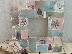 Паста для моделирования в декупаже на примере рамки «Странный лес».. Ярмарка Мастеров - ручная работа, handmade.