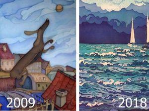 Художники показали, как изменились их работы за несколько лет. Ярмарка Мастеров - ручная работа, handmade.