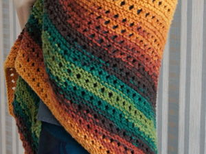 Knitting a Simple Shawl. Livemaster - handmade