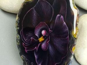 Кулон с авторской росписью на заказ – Черная орхидея. Ярмарка Мастеров - ручная работа, handmade.
