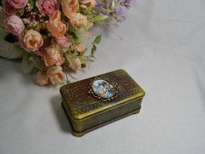 Мастер-класс по имитации металла: шкатулка «Дама в голубом». Ярмарка Мастеров - ручная работа, handmade.
