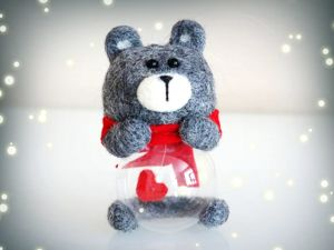 How to Make an Unusual Felted Bear for a Christmas Tree. Livemaster - handmade