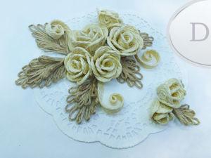 Розы из джута. Самый легкий способ изготовления. Ярмарка Мастеров - ручная работа, handmade.