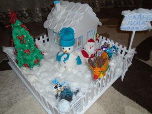 Новогодняя поделка в садик  «Усадьба Деда мороза». Ярмарка Мастеров - ручная работа, handmade.