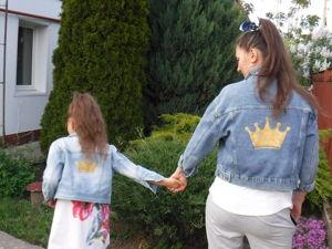 Украшаем джинсовую куртку короной. Фэмили лук. Ярмарка Мастеров - ручная работа, handmade.
