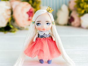 Брошь куколка Эмма. Ярмарка Мастеров - ручная работа, handmade.