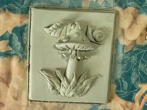Картина из глины своими руками. Барельеф «Гриб Мухомор». Ярмарка Мастеров - ручная работа, handmade.