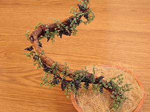 Как быстро и просто сделать виноградную лозу из бисера. Ярмарка Мастеров - ручная работа, handmade.