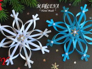 Делаем снежинку из фоамирана. Ярмарка Мастеров - ручная работа, handmade.