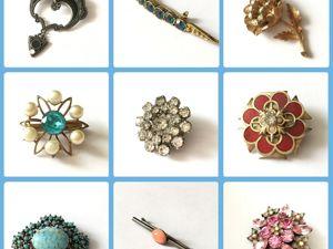 Аукцион винтажных брошей 18-19 сентября. Ярмарка Мастеров - ручная работа, handmade.