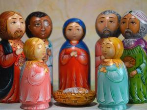 Подарок 2020! Рождественский вертеп и Елочка участвуют в конкурсе!. Ярмарка Мастеров - ручная работа, handmade.