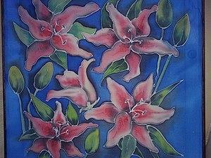Рисуем лилии в технике холодный батик. Ярмарка Мастеров - ручная работа, handmade.