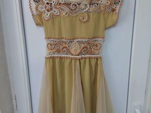 Создание платья для девочки комбинированого типа (крючок+ткань). Ярмарка Мастеров - ручная работа, handmade.