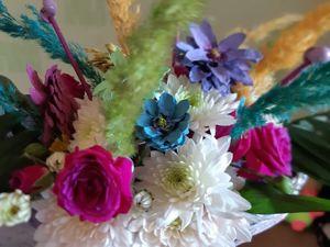 Корзина цветов в подарок. Ярмарка Мастеров - ручная работа, handmade.