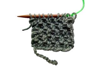 Вяжем жемчужный узор спицами. Ярмарка Мастеров - ручная работа, handmade.