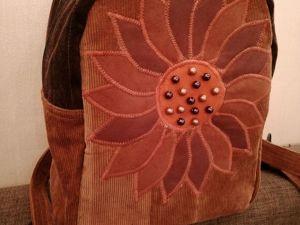 Аукцион на рюкзак   «Вишня в шоколаде». Ярмарка Мастеров - ручная работа, handmade.